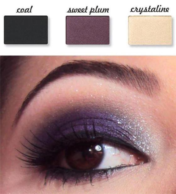 Paarse tonen mooi bij bruine ogen