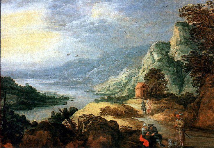 Joos de Momper the Younger (1564 - 1635). Речной пейзаж.