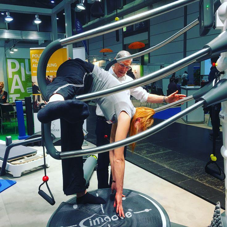 Der Imoove auf der Therapie Leipzig - Messe für Physiotherapeuten:  - Gelenkmobilisation,  - Training der autochthonen Rückenmuskulatur,  - Förderung der Reaktionsfähigkeit