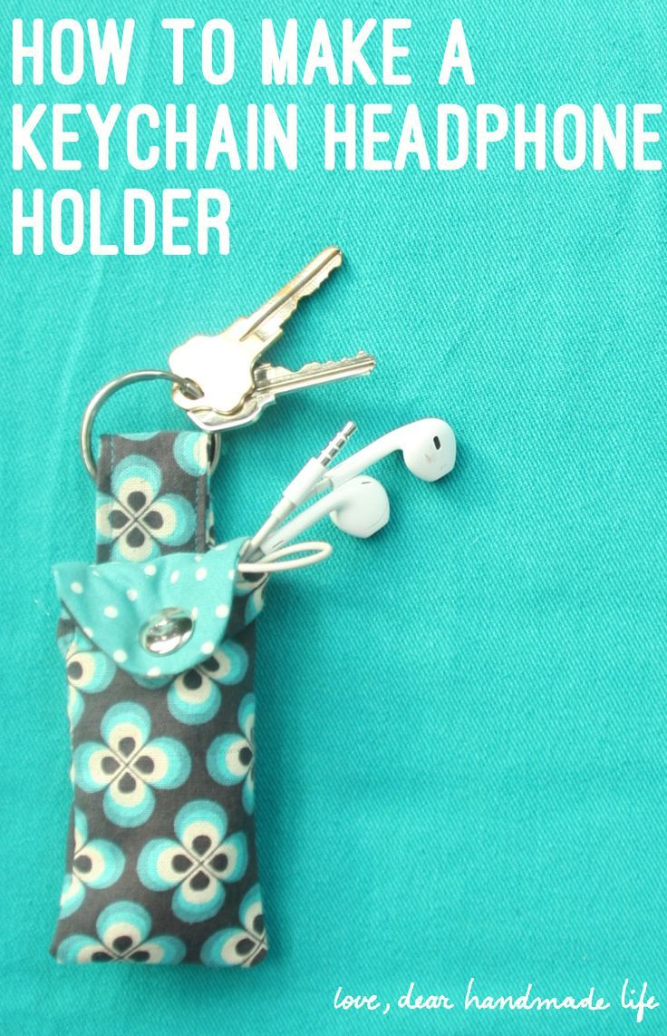 How to Make a Keychain Ear Bud Pouch - Dear Handmade LIfe