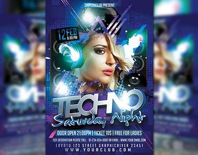 "Check out new work on my @Behance portfolio: ""Techno Saturday Night"" http://be.net/gallery/34643917/Techno-Saturday-Night"