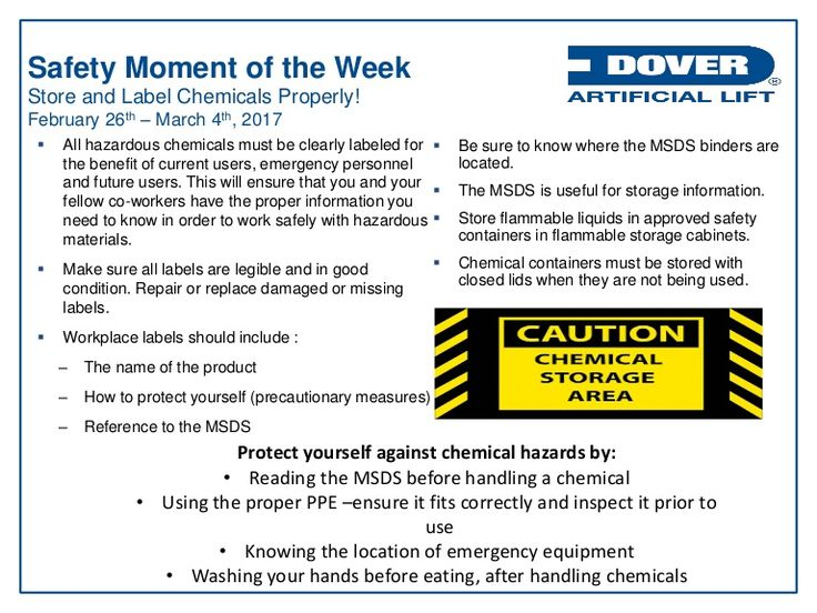 Store & Label Chemicals Properly! Alberta Oil Tool's #Safety Moment of the Week 27-Feb-2017
