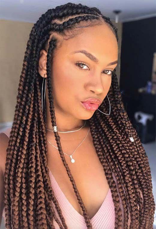 61 Badass Box Braids to Inspire: Box Braid Hairstyles Guide | Box braids hairstyles, Braided hairstyles, Hair styles