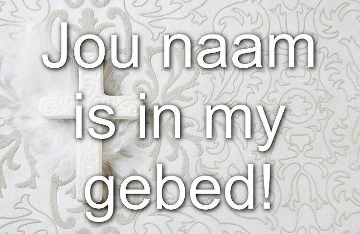 Jou naam is in my gebed