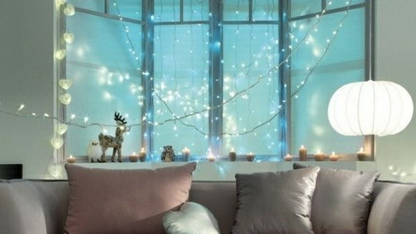 creative window string lights - Google Search