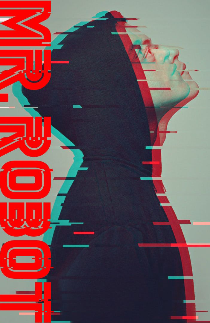 How to Make Mr  Robot Poster (Glitch Effect) on Behance