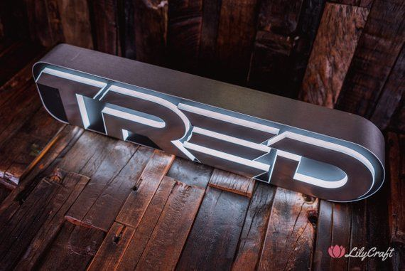 STEEL SIGN - LUXURY STAINLESS STEEL LED SIGNS  CUSTOM MADE