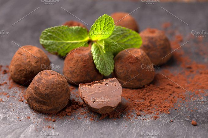 chocolate truffle by peterzsuzsa on @creativemarket