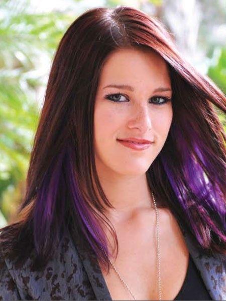 purple haired Cassadee Pope
