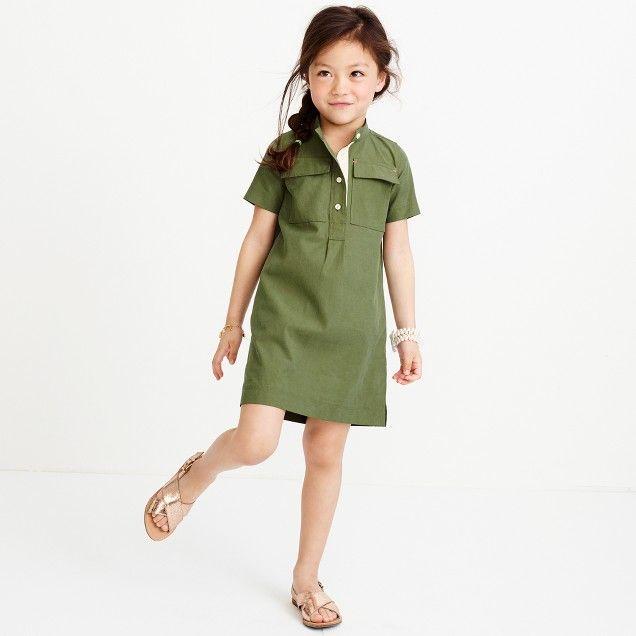 Girls' utility dress