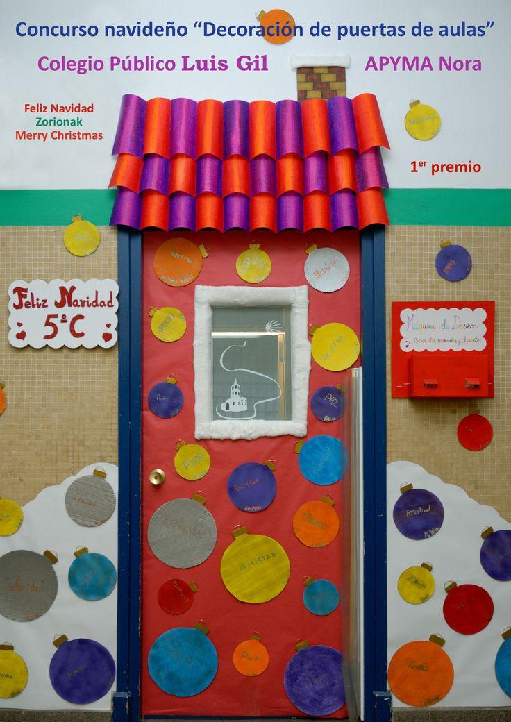 17 mejores ideas sobre puertas decoradas en pinterest for Decoracion de aula para navidad