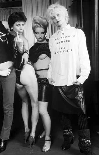 "Vivienne Westwood 80s   The challenge attitude from the punks against the society.  ""The reasonable demands the impossible"""