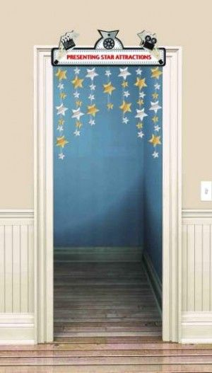Amscan // Hollywood Movie Marquee Door Decoration   3' x 4'