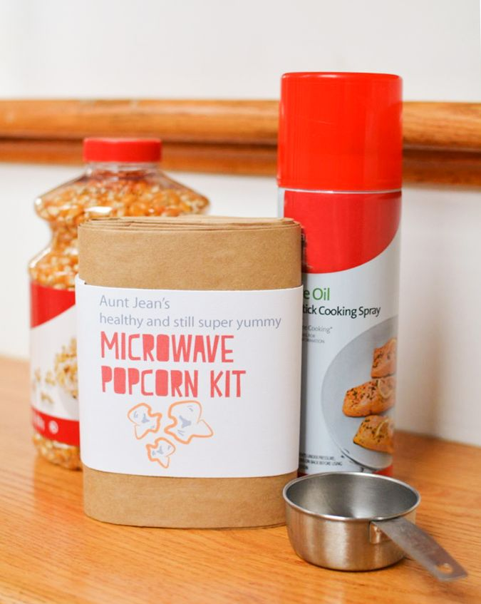 Did you know-- store-bought microwave popcorn is filled with totally unnecessary (and hazardous) chemicals? Make Aunt Jean's Microwave Popcorn Kit: Save Your Loved Ones from Evil Popcorn  - Free Printable
