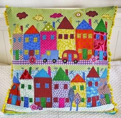 Lucy Levenson Houses Cushion