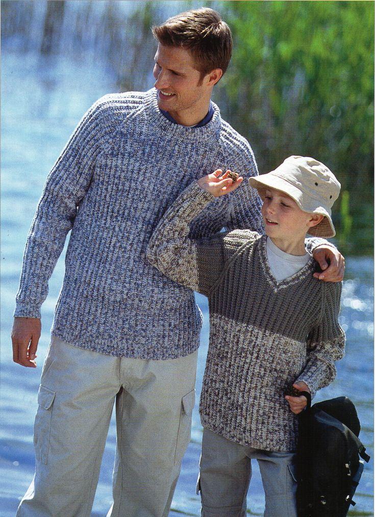Mens Ribbed Sweater Knitting Pattern Pdf Boys Jumper Rib