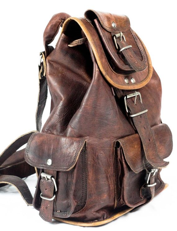 Indiana Jones Leather Backpack Leather Rucksack By