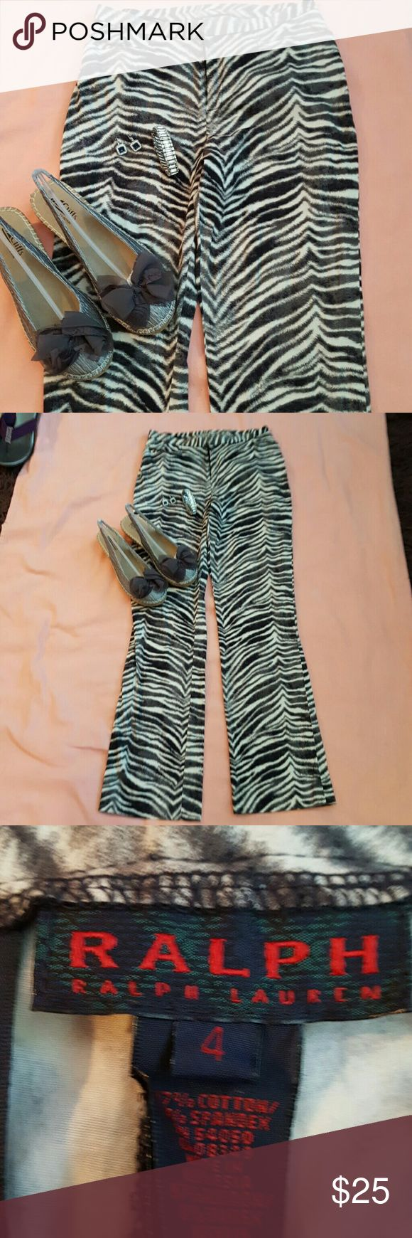 WILD THING ANIMAL PRINT / RALPH LAURAN Zebra/ Brave ,SOFT , BEAUTIFUL LAST LONG TIME/ SOME HIGH HEELS NICE BLOUSE OUT ON THE TOWN Ralph Lauren Pants