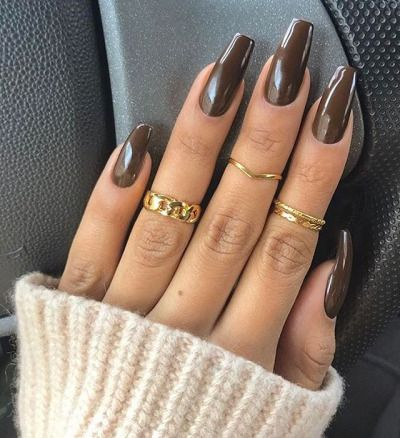 17 Best Ideas About Brown Nail Designs On Pinterest Rose