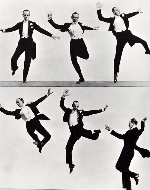 """Fred Astaire dancing, circa 1930's:  """"I have no desire to prove anything by dancing. I have never used it as an outlet or a means of expressing myself. I just dance. I just put my feet in the air and move them around."""""""