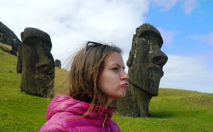 12 THINGS YOU MUST DO ON EASTER ISLAND Take a picture with moai face (at Rano Raraku)