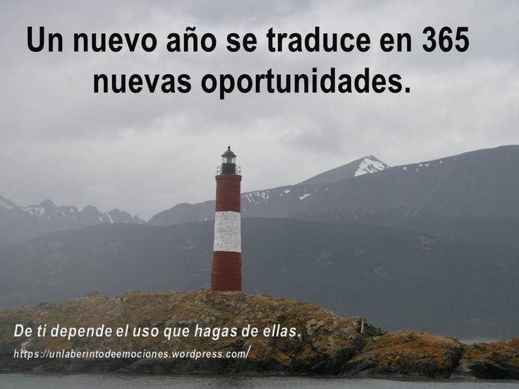 Un nuevo año se traduce en 365 nuevas oportunidades.