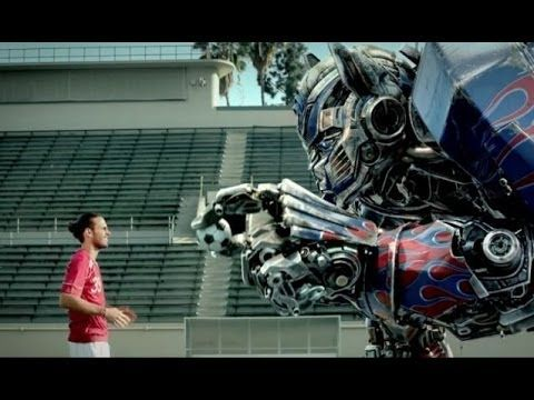 Diego Poyet comes face to face with Transformers' Optimus Prime in New Advert
