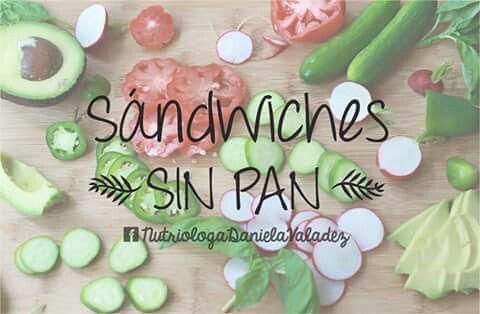 Aprende a cocinar sandwiches sin pan. Vive natural, vive sano