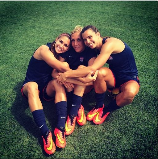 Alex Morgan, Allie Long, Tobin Heath. (Instagran)