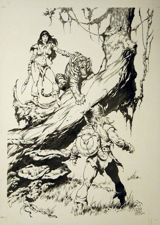 WFCBA plate 5 by John BUSCEMA Comic Art