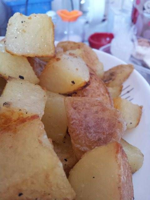 baked potatoes, crispy and fluffy