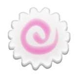 Japanese Food Emoji - Fish Cake: Naruto (also called narutomaki) is a type of fish cake with a distinctive pink swirl in the middle, named after the tidal whirlpools of the Naruto Strait. Made from pureed whitefish that is molded and steamed, slices of naruto are often served in dishes like ramen and oden.
