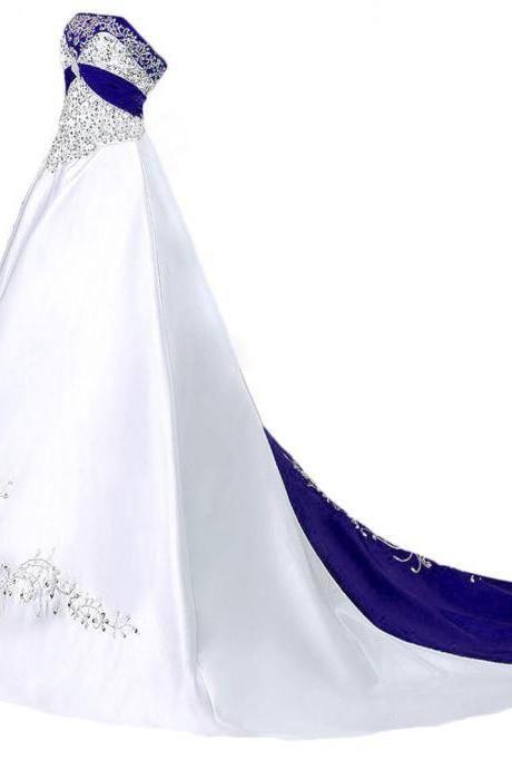 Wedding Dresses,Royal Blue Wedding Dresses,Bridal Dresses,Wedding Dress,2016 Wedding Dresses,Strapless Wedding Dress, Vintage Wedding Dresses,Wedding Gowns,Bridal Gown