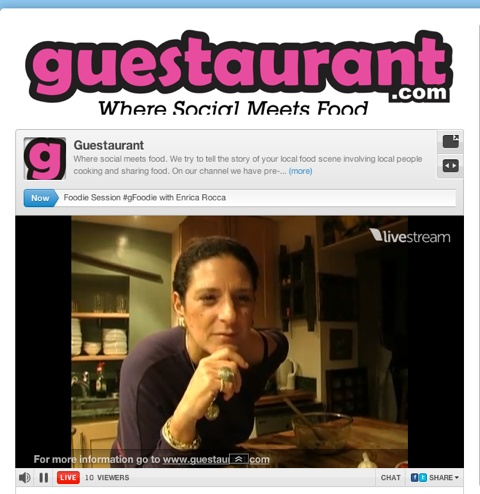 Online live cooking class in London for @Guestaurant on November 27th, 2011. Real fun!!!
