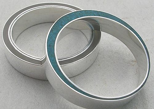 Carla Pennie Jewelry Design – Rings – Silver rings with resin and turquoise