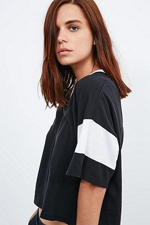Carhartt Charlize V-Neck Tee in Black - Urban Outfitters