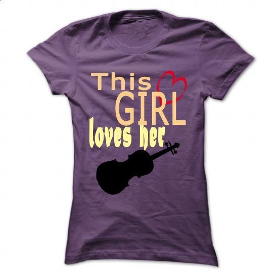This girl loves her violin - #funny t shirts for men #white hoodie mens. GET YOURS => https://www.sunfrog.com/Music/This-girl-loves-her-violin-Purple-45423672-Ladies.html?60505