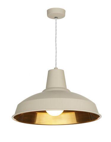 Reclamation Pendant Light Cotswold Cream/Copper £149 #meyerandmarsh #lighting #homeideas