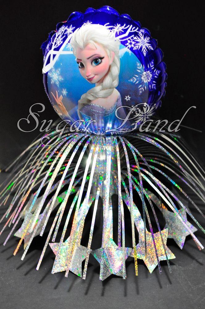 Disney Frozen Party Centerpiece Foil Mylar Balloons+Sticks