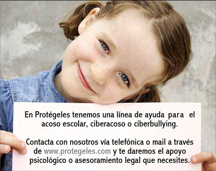 En #protégeles tenemos una línea de ayuda para el acoso escolar o #ciberbullying, contacta con nosotros en http://www.protegeles.com