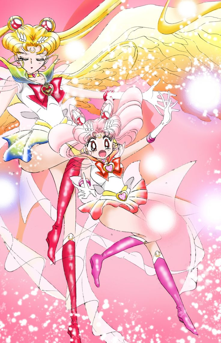 """jedipamyurin: """" It's been a long time since I posted something I made haha. This is a coloring of the first time Chibiusa transformed into Super Sailor Chibimoon in act 36 -""""Infinity 10 The Skies"""". This part doesn't happen in the 90′s anime, but they..."""