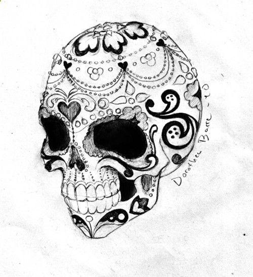 sugar skull tattoo   Tumblr I really really like this love love love