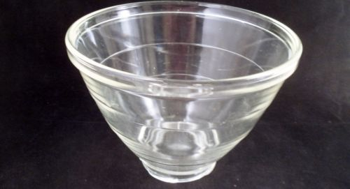 Large Vintage Kitchenaid Heat Resistant Clear Glass Ribbed