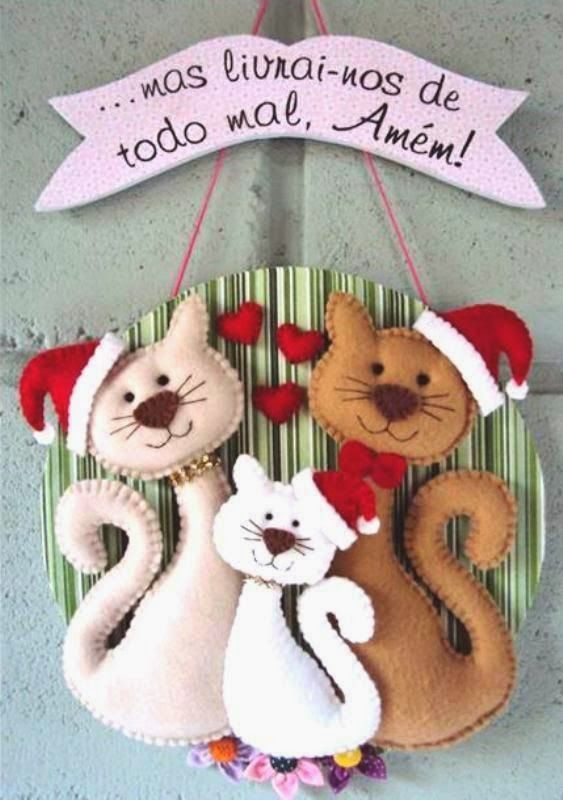 Santa Cats - Mimo Arts: Moulds http://mimo-artes.blogspot.com.br/p/blog-page.html