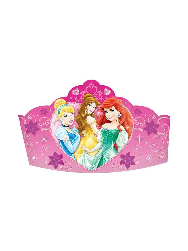 "Disney Princess 5"" Paper Tiaras   Discount Individual Decorations and Supplies"