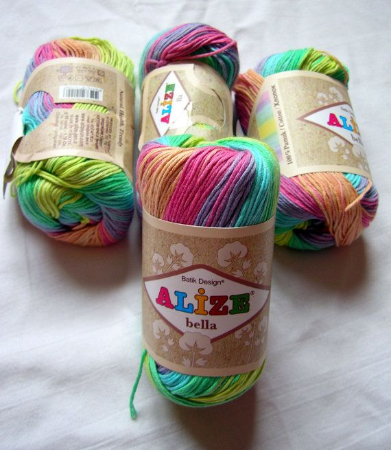Pure Cotton Baby  Yarn Light Weight Alize Bella by HandyFamily, €3.80