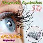 Fashion Handmade 3D Magnetic False Eyelashes Natural Eye Lashes Extension 4 Pcs