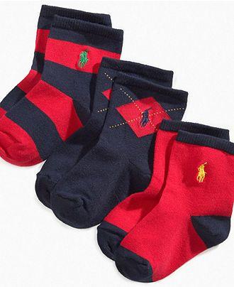 Ralph Lauren Baby Socks, Baby Argyle Rugby Socks 3 Pack
