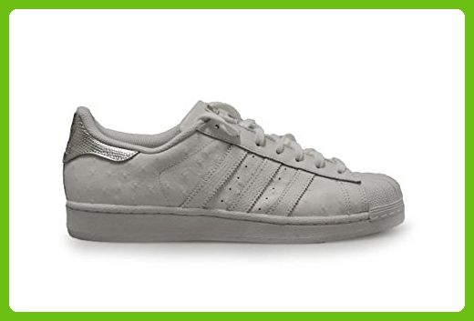 adidas originals superstar mens trainers sneakers shoes (us 10, white metallic silver S80341)
