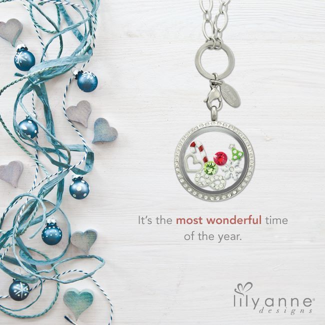Christmas Locket by Lily Anne Designs